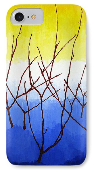 Winter Dogwood Phone Case by Oliver Johnston