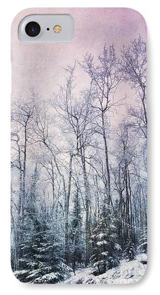 Winter Forest Phone Case by Priska Wettstein