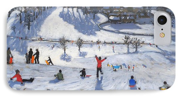 Winter Fun IPhone Case by Andrew Macara