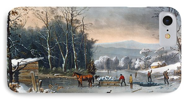 Winter In The Country IPhone Case by Currier and Ives