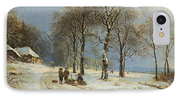 Winter Landscape 2 IPhone Case by Roy Pedersen