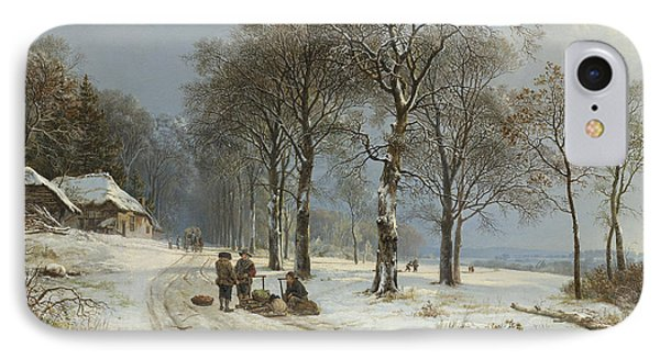 Winter Landscape IPhone Case by Roy Pedersen