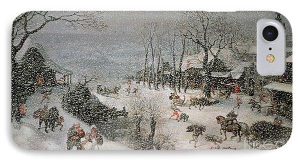 Winter IPhone Case by Lucas van Valckenborch