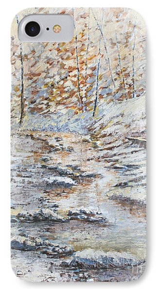 Winter River Phone Case by Todd A Blanchard