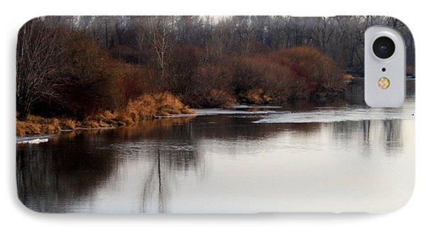 Winter Riverbank Phone Case by Carol Groenen
