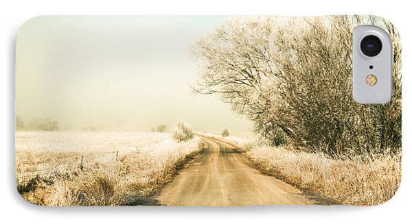 Winter Road Wonderland IPhone Case by Jorgo Photography - Wall Art Gallery