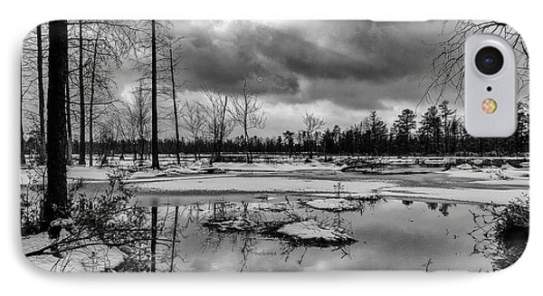 Winter Storm Landscape IPhone Case by Louis Dallara