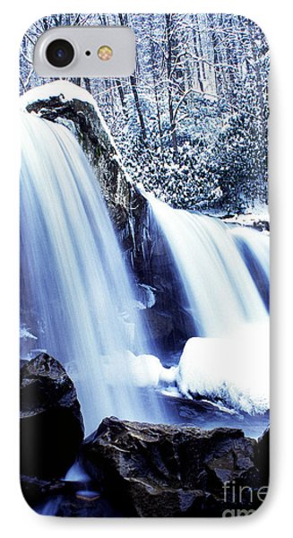 Winter Waterfall IPhone Case by Thomas R Fletcher