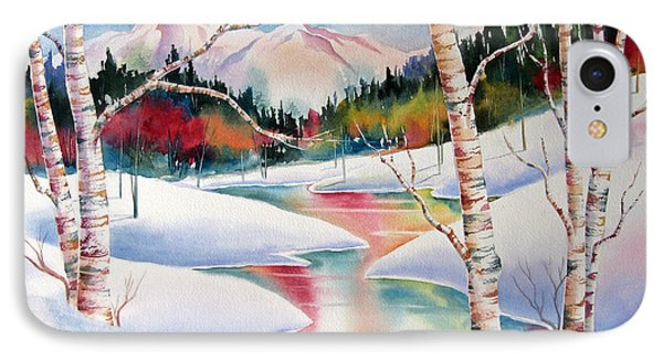 Winter's Light Phone Case by Deborah Ronglien