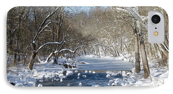 Wintertime On The Wissahickon Creek IPhone Case by Bill Cannon