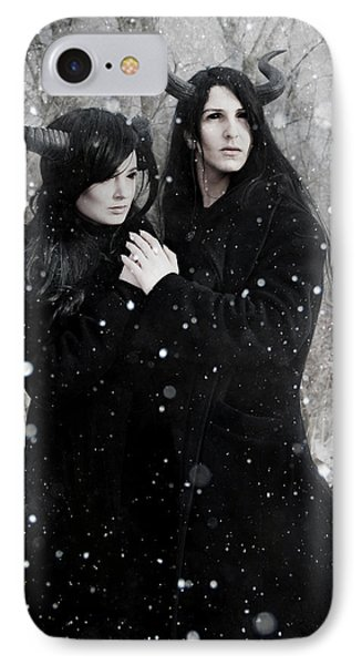 Wintry Wind IPhone Case by Cambion Art