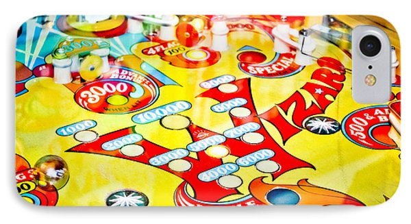 Wizard - Pinball Machine IPhone Case by Colleen Kammerer