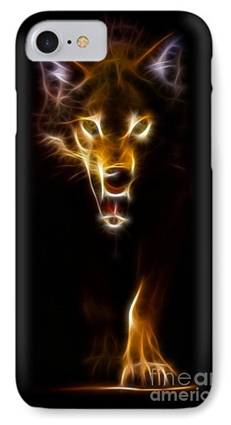 Wolf Ready To Attack IPhone Case by Pamela Johnson