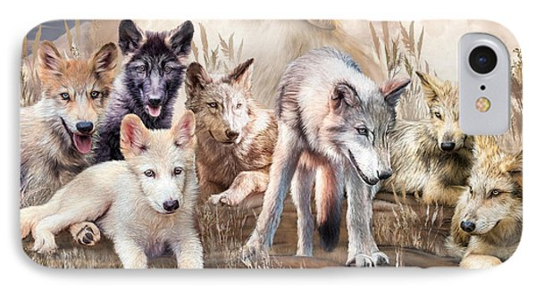 Wolves - Young And Wild IPhone Case by Carol Cavalaris