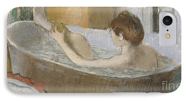 Woman In Her Bath IPhone Case by Edgar Degas