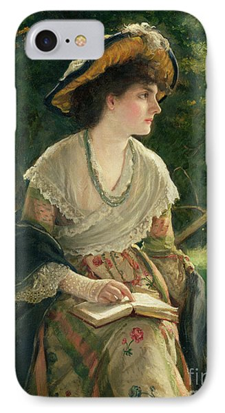 Woman Reading IPhone Case by Robert James Gordon