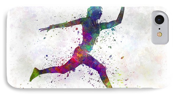 Woman Runner Running Jumping IPhone Case by Pablo Romero