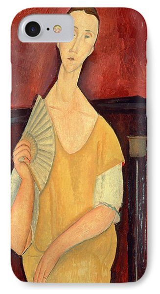 Woman With A Fan IPhone Case by Amedeo Modigliani