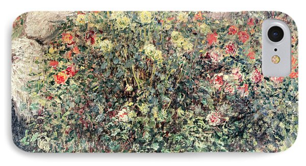 Women In The Flowers IPhone Case by Claude Monet