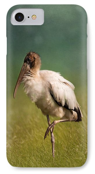Wood Stork - Balancing IPhone 7 Case by Kim Hojnacki