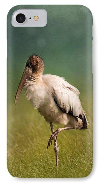 Wood Stork - Balancing IPhone Case by Kim Hojnacki