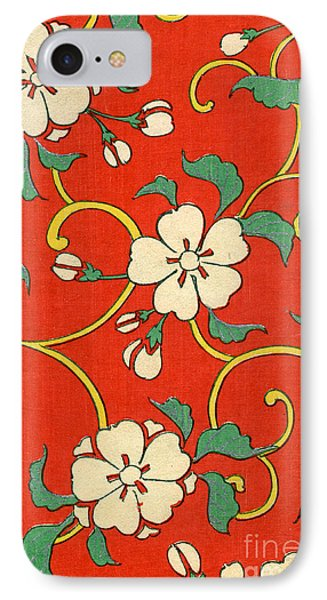 Woodblock Print Of Apple Blossoms IPhone 7 Case by Japanese School