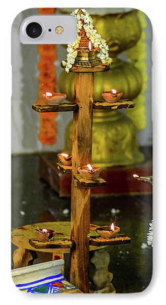 Wooden Candle Stand IPhone Case by Srinivas Rao