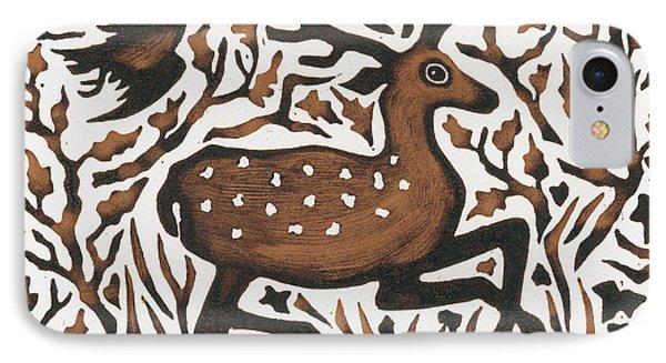 Woodland Deer IPhone Case by Nat Morley