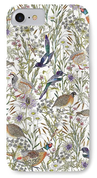 Woodland Edge Birds IPhone 7 Case by Jacqueline Colley