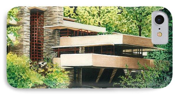 Fallingwater-a Woodland Retreat By Frank Lloyd Wright IPhone Case by Barbara Jewell