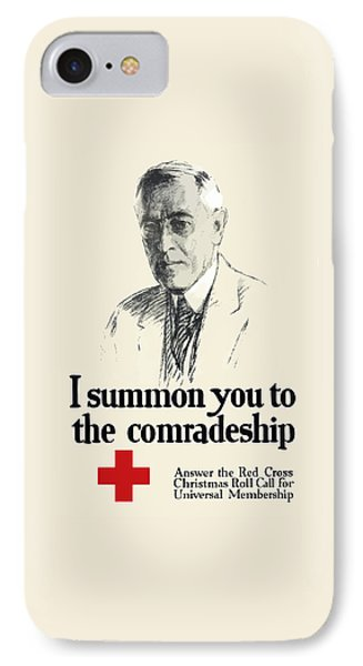 Woodrow Wison Red Cross Roll Call IPhone Case by War Is Hell Store
