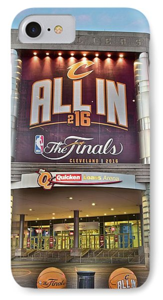 World Champion Cleveland Cavaliers IPhone 7 Case by Frozen in Time Fine Art Photography