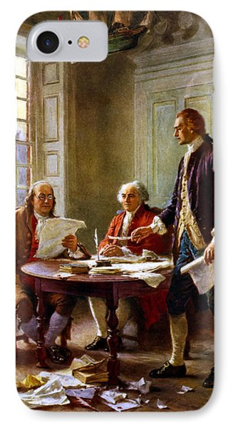 Writing The Declaration Of Independence IPhone Case by War Is Hell Store