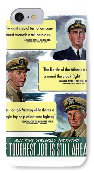 Ww2 Us Navy Admirals Phone Case by War Is Hell Store