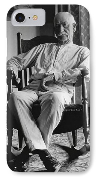 Wyatt Earp 1923 - Los Angeles IPhone Case by Daniel Hagerman