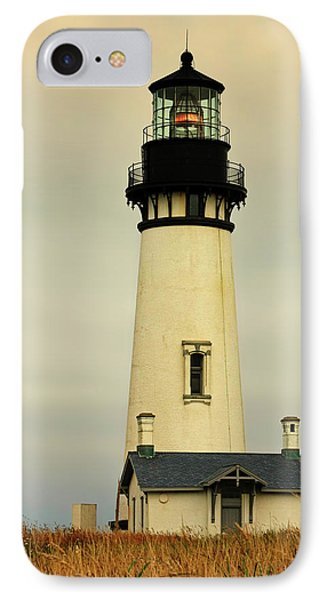 Yaquina Head Lighthouse - Newport Or IPhone Case by Christine Till