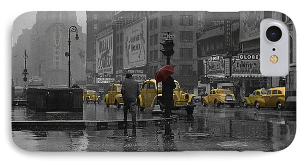 Yellow Cabs New York IPhone 7 Case by Andrew Fare