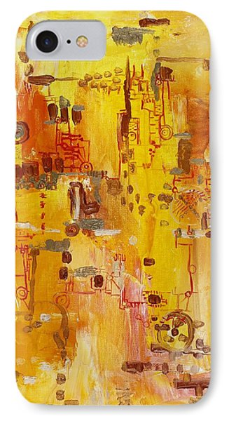 Yellow Conundrum IPhone Case by Regina Valluzzi