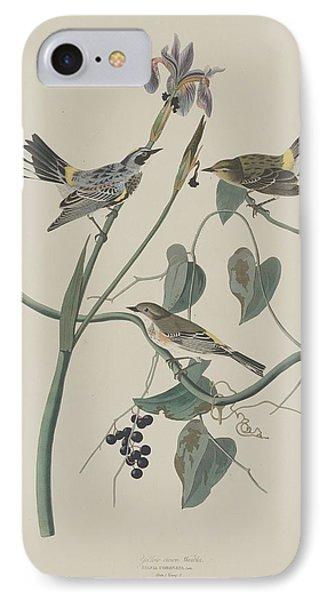 Yellow-crown Warbler IPhone 7 Case by John James Audubon