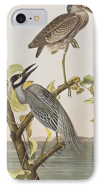 Yellow Crowned Heron IPhone 7 Case by John James Audubon