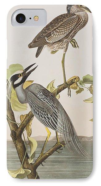 Yellow Crowned Heron IPhone Case by John James Audubon