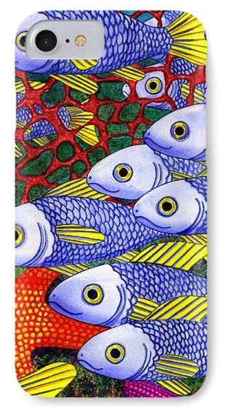 Yellow Fins IPhone Case by Catherine G McElroy