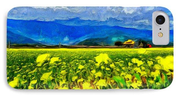 Yellow Flowers IPhone Case by Leonardo Digenio