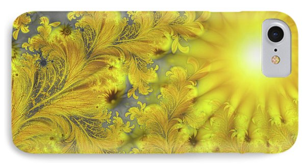 Yellow Morning IPhone Case by Mindy Sommers
