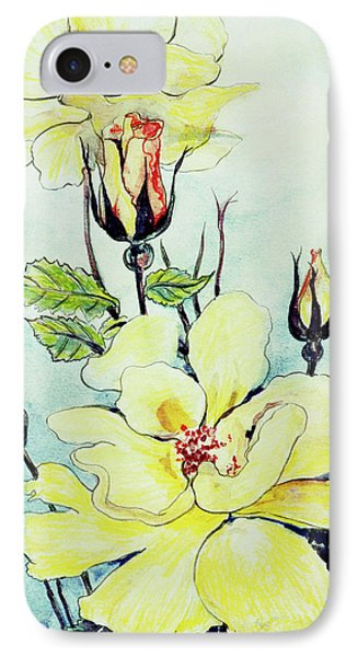 Yellow Rose In A Suffolk Breeze IPhone Case by Joan Thewsey