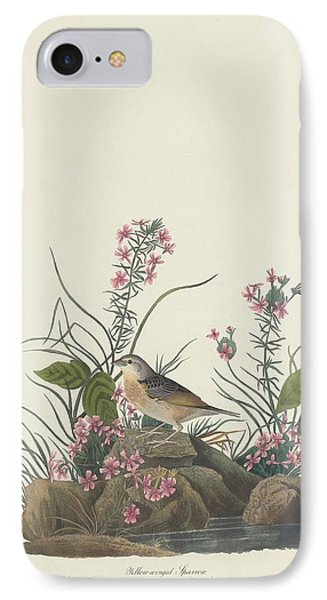 Yellow-winged Sparrow IPhone 7 Case by John James Audubon