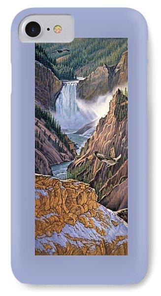 Yellowstone Canyon-osprey IPhone Case by Paul Krapf