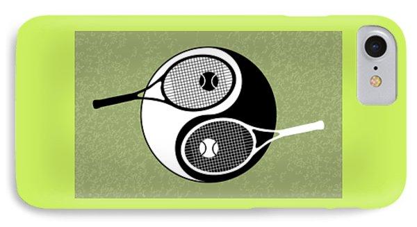 Yin Yang Tennis IPhone Case by Carlos Vieira
