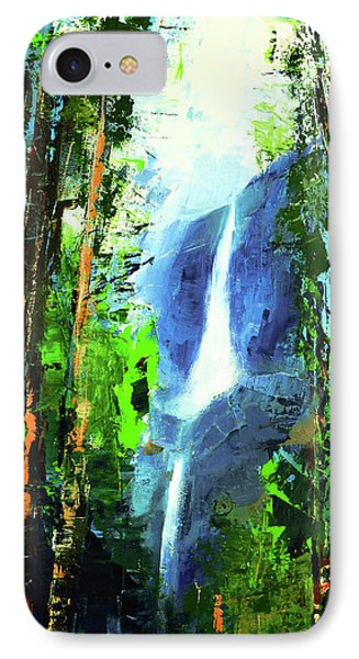 Yosemite Falls IPhone Case by Elise Palmigiani