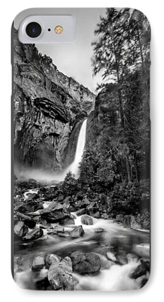 Yosemite Waterfall Bw IPhone Case by Az Jackson